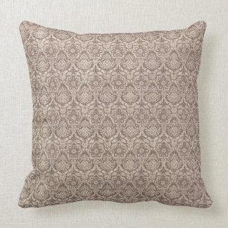 Damask Brown Pattern Cushion