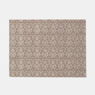 Damask Brown Pattern Doormat