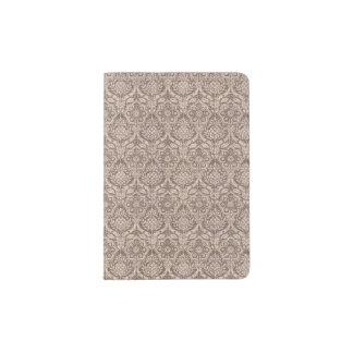 Damask Brown Pattern Passport Holder