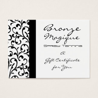 Damask Business Gift Certificate Card