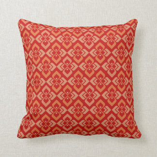 Damask classic red, orange warm toned pillow throw cushion