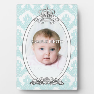 Damask Crown Customizable Photo Plaque 5x7