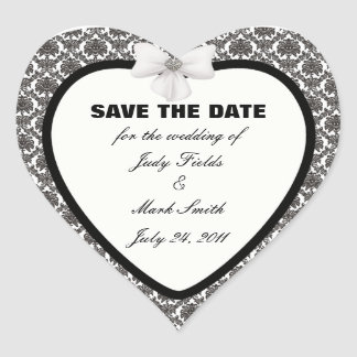 Damask Elegance Wedding Save The Date Stickers