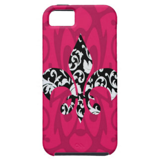Damask Fleur de Lis with Pink iPhone 5 Covers