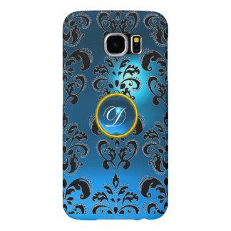 DAMASK GEM MONOGRAM blue Samsung Galaxy S6 Cases