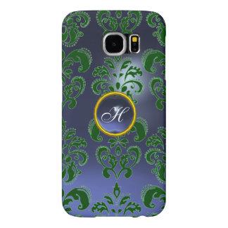 DAMASK GEM MONOGRAM green purple dark Samsung Galaxy S6 Cases