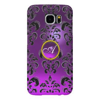 DAMASK GEM MONOGRAM purple Samsung Galaxy S6 Cases