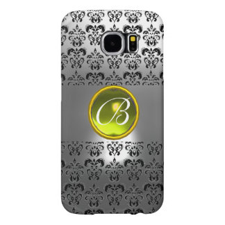 DAMASK GEM MONOGRAM Yellow white crystal Samsung Galaxy S6 Cases