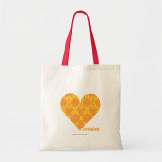 Damask Orange-Yellow 2 Budget Tote Bag