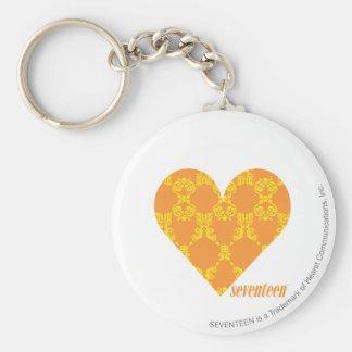 Damask Orange-Yellow 2 Key Chains