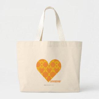 Damask Orange-Yellow 2 Large Tote Bag