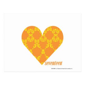 Damask Orange-Yellow 2 Post Card