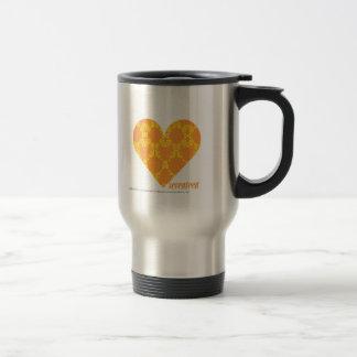 Damask Orange-Yellow 2 Travel Mug