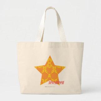 Damask Orange-Yellow 3 Tote Bags