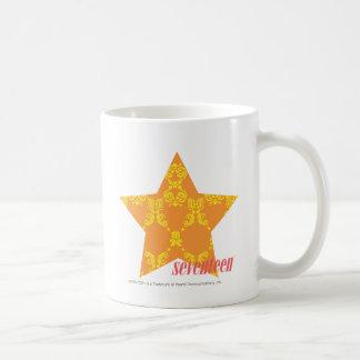 Damask Orange-Yellow 3 Basic White Mug