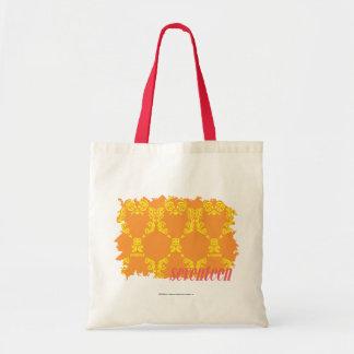 Damask Orange-Yellow 4 Budget Tote Bag