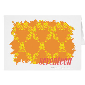 Damask Orange-Yellow 4 Cards