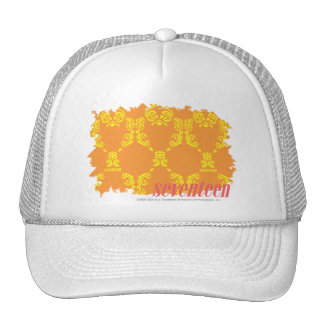Damask Orange-Yellow 4 Hats