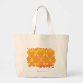 Damask Orange-Yellow 4 Jumbo Tote Bag