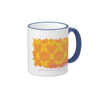 Damask Orange-Yellow 4 Coffee Mugs