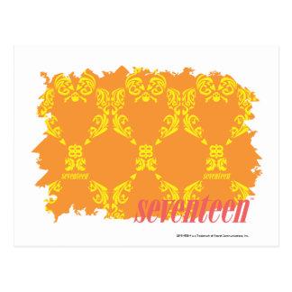 Damask Orange-Yellow 4 Postcard