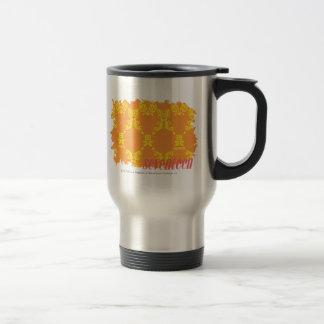 Damask Orange-Yellow 4 Stainless Steel Travel Mug