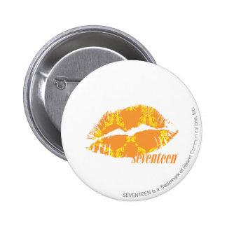 Damask Orange-Yellow Pinback Button
