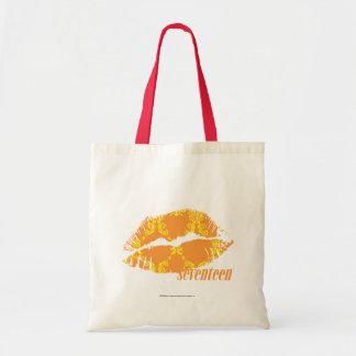 Damask Orange-Yellow Budget Tote Bag
