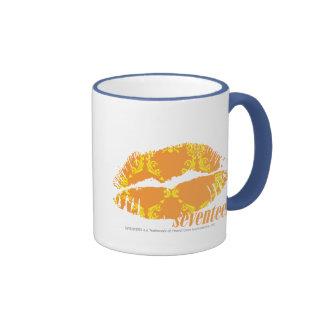 Damask Orange-Yellow Ringer Mug
