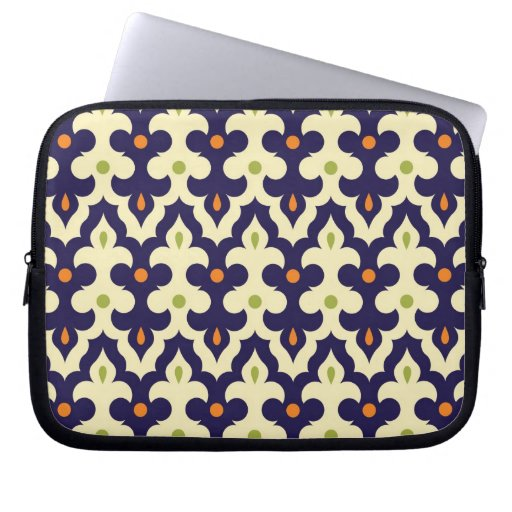 Damask paisley arabesque Moroccan pattern girly Laptop Computer Sleeve
