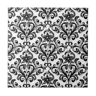 Damask Pattern Small Square Tile