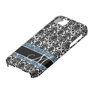 Damask Pattern with Monogram Case For The iPhone 5