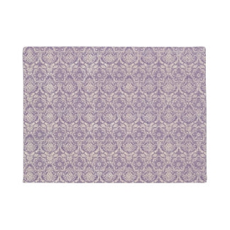 Damask Purple Pattern Doormat