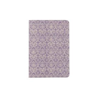 Damask Purple Pattern Passport Holder