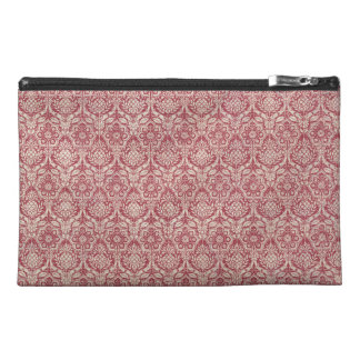 Damask Red Pattern Travel Accessory Bag
