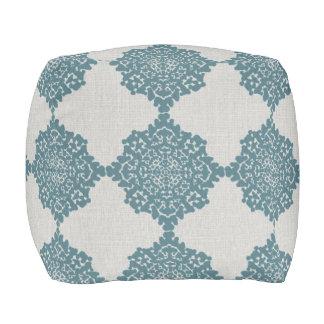 Damask Snowflakes Floor Cushion gray blue