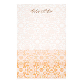 Damask Swirls Lace Sorbet Thank You Stationery