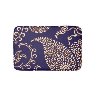 Damask vintage paisley girly floral henna pattern bath mats
