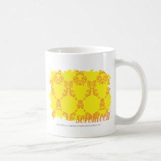 Damask Yellow-Orange 2 Basic White Mug