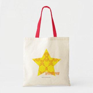 Damask Yellow-Orange 3 Budget Tote Bag