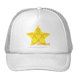 Damask Yellow-Orange 3 Hat