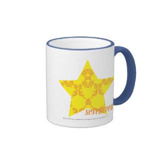 Damask Yellow-Orange 3 Ringer Mug