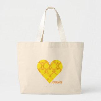 Damask Yellow-Orange 4 Canvas Bags