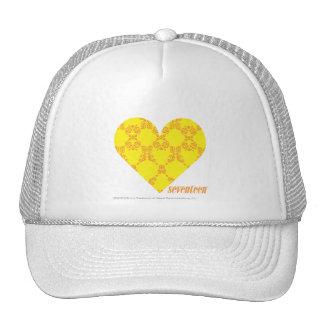 Damask Yellow-Orange 4 Trucker Hat