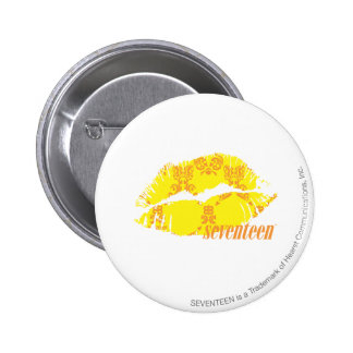 Damask Yellow-Orange 6 Cm Round Badge