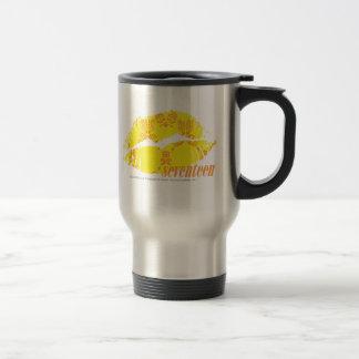 Damask Yellow-Orange Coffee Mugs
