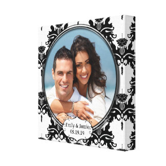 Damask Your Photo Wrapped Canvas