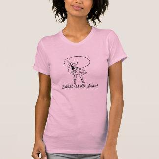 Damen T-shirt Selbst ist die Frau