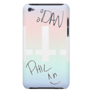 Dan and Phil autographed iPod 4g case, Barely There iPod Covers
