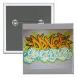 Dance above the Clouds Graffiti Pinback Button